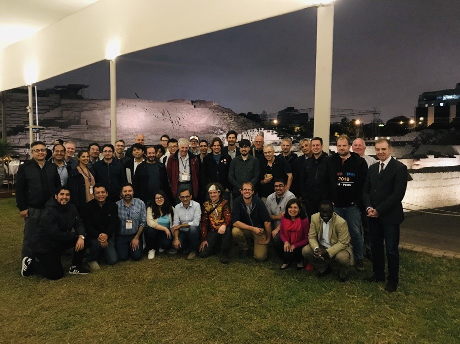 Figure 1. The conference dinner at Pachacamac ruins