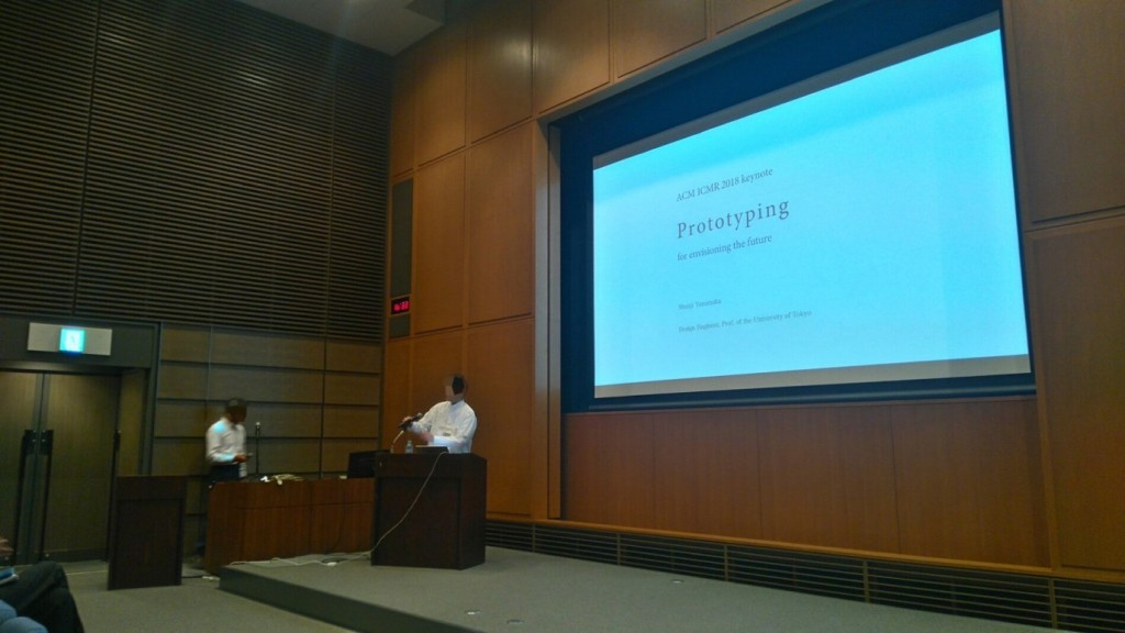 Shunji Yamanaka about to begin his keynote talk on Prototyping