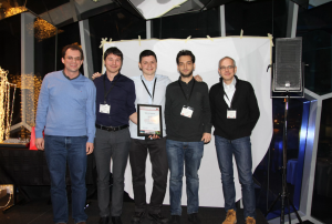 The winners of VBS 2017, after a very even and exciting competition, were Luca Rossetto, Ivan Giangreco, Claudiu Tanase, Heiko Schuldt, Stephane Dupont and Omar Seddati, with their IMOTION system.